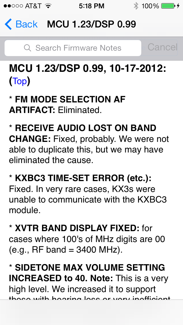 Firmware Notes